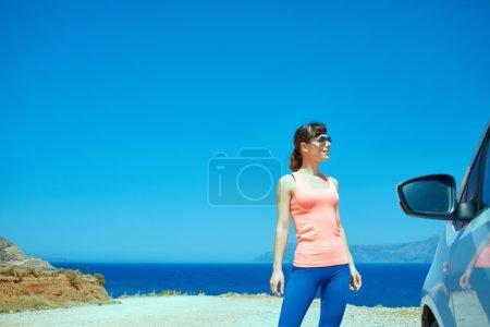 woman enjoying freedom on travel