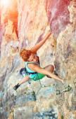 žena horolezec