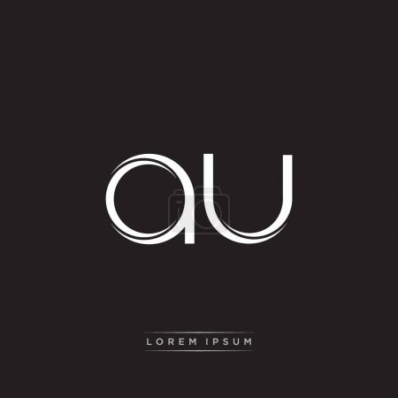 Illustration for Initial Letter Split Lowercase Logo Modern Monogram Template Isolated on Black White colors with vector 10 - Royalty Free Image