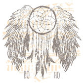 Dreamcatcher print  t-shirt graphics  vectors
