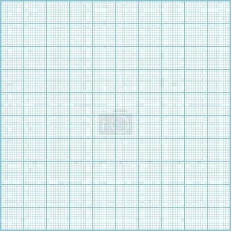 Blue millimeter paper background.