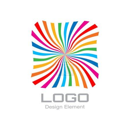 Colorful Bright Rainbow Spiral Logo.