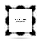 Black Abstract Halftone Square Frame Background  for your design