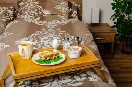 Photo for Breakfast in bed, best start of morning - Royalty Free Image