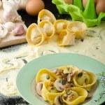 Tortellini stuffed mushrooms, parmesan cheese and ...