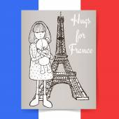 Sketch condolences for France poster