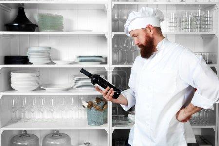Professional chef of luxury haute cuisine
