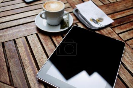 Empty blank screen tablet