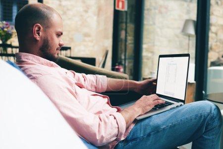 businessman looking at financial data
