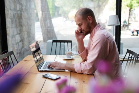 freelancer during coffee break