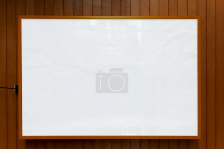 Photo pour Wooden frame with white background for your text message, presentation, information or content, mock up blank frame background - image libre de droit