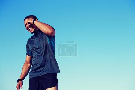 Happy smiling sportsman