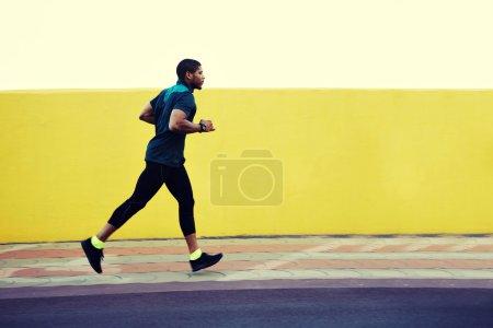 Strong body male runner