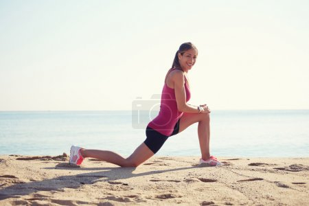 Young woman engaged in sports outdoors