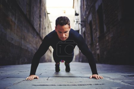 man preparing for the daily jogging