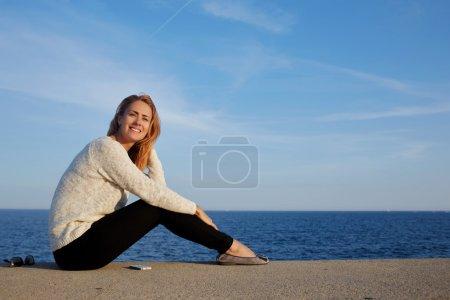 woman traveler enjoying sunlight