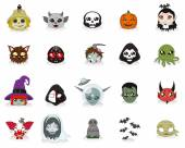 Cute cartoon Halloween icons