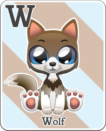 Animal alphabet card