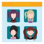 female hair style avatars