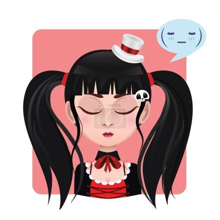 Cute girl expression - Calm
