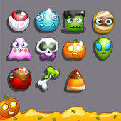 Icons for games on the theme  Halloween (candy)