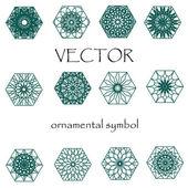 Vector illustration of colored oriental ornament
