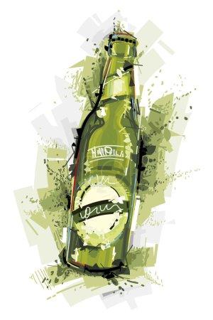 Green Beer Bottle