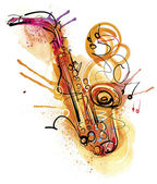 Water Color Saxophone