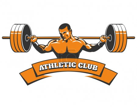 Athletic or Powerlifting Club Emblem