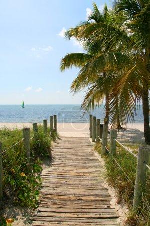 Footbridge to the beach