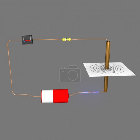 Photo for Electric Circuit diagram isolated on white background - Royalty Free Image