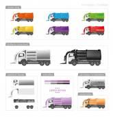 Front loader trucks vector illustration