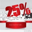 Red 25 percent discount on vector cracked ground o...