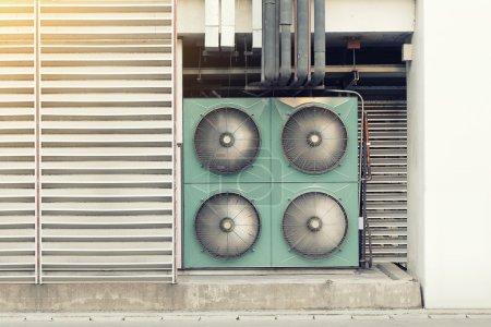 Air compressor outside
