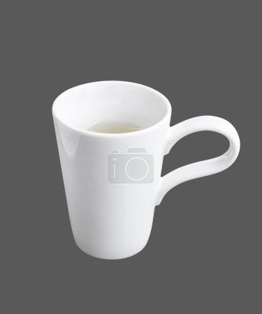 Photo pour Conteneurs de condiment (couleur blanche) fond isolé . - image libre de droit