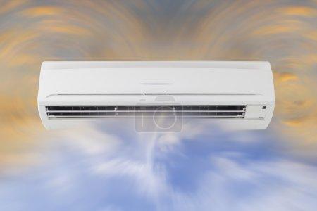 Photo pour Circulation d'air de la machine de climatiseur . - image libre de droit