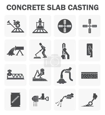 Concrete floor icons