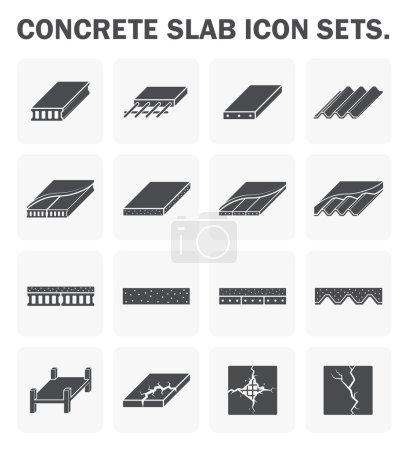 Concrete slab icons