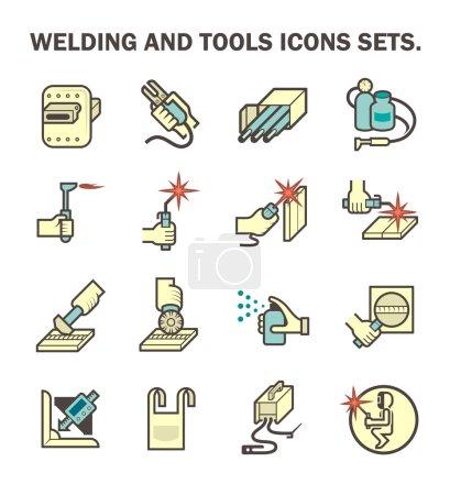 Welding vector icons