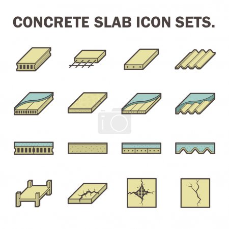 Concrete slab icon