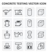 Concrete testing icon