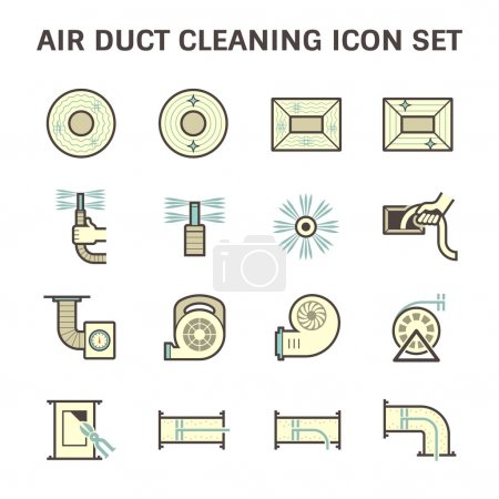 Duct clean icon