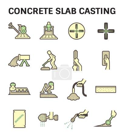 Concrete slab casting
