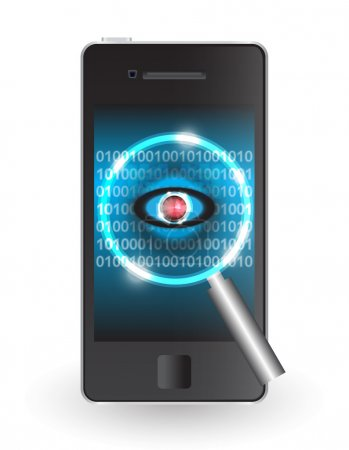 Magnifier and virus data in smartphone....