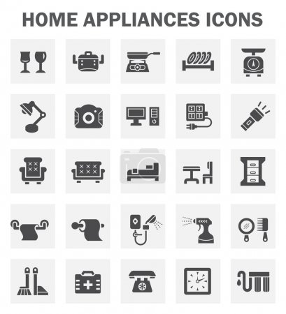 Illustration for Home appliance icon set. - Royalty Free Image