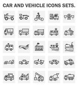 Car and vehicle icons sets