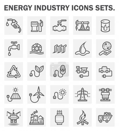 Illustration for Energy industry icons sets. - Royalty Free Image