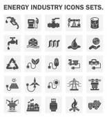 Energy industry icons sets
