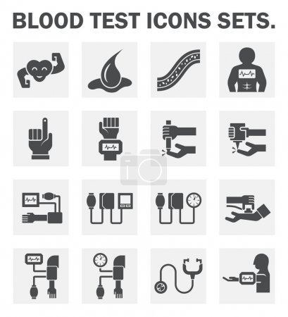 Illustration for Blood test and tool icons sets. - Royalty Free Image