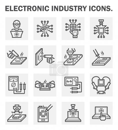 Illustration for Electronics industry icons. - Royalty Free Image